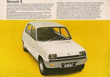 Renault 5 1972-73 UK Market Launch Leaflet Sales Brochure L TL