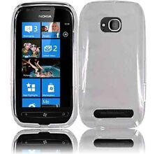 For Nokia Lumia 710 HARD Protector Case Snap on Phone Cover Crystal Clear