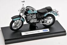 BLITZ VERSAND Honda Shadow VT1100C blau-schwarz Welly Motorrad Modell 1:18 NEU
