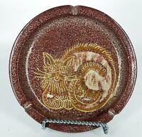 ALFARAZ CAT DESIGN ART POTTERY MADE IN SPAIN ASHTRAY BOWL / DISH
