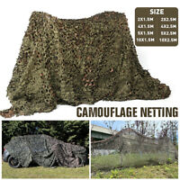 Camouflage Netting Camo Net Woodland Blinds Fit Military Sunshade Camping Hunter