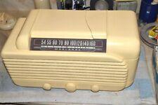 WOOLAROC PHILLIPS PETROLEUM CO 3-1A BAKELITE AM TABLE RADIO 1946 pro serviced