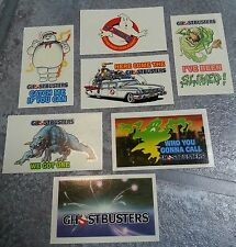 GHOSTBUSTERS Waterslide Transfers, 1984 (Full Set of 7) Movie, Film, Collectable