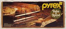 "Pyrex BAKE A ROUND 14"" Glass French Bread Baking Tube Pan Corning #990 NEW w BOX"