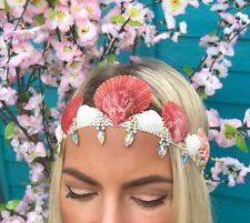 Red Ivory Sea Shell Gold Diamante Diamond Hair Band Mermaid Crown Choochie Choo