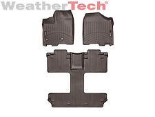 WeatherTech Floor Mats FloorLiner for Toyota Sienna - 2013-2017 - 7-Pass - Cocoa