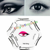 6 in 1 Eyeliner Sticker Quick Cat Eye Liner Template Eyeshadow Drawing Stencil