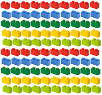 ☀️100x NEW LEGO 1x2 MIX Bricks #3004 BULK Parts Building Red Yellow Blue Green