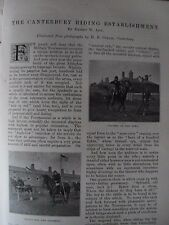 Victorian Antique Illustrated Articles 1896 Canterbury Rising Oxford University