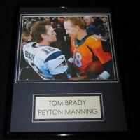 Tom Brady Peyton Manning Framed 11x14 Photo Display Patriots Broncos