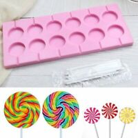 Silicone Lollipop Shape Mold Chocolate Candy Sugar Cake Mould DIY Baking Craft