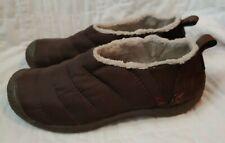 Keen Women's Cush Howser Brown Quilted Fleece Lined Comfort Slip On Shoes Sz 8