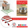Trivet Stand Silicone Hot Pot Pan Stainless Steel Worktop Protector Kitchen