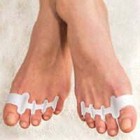 NEW Gel Toe Straighteners Align Toes Relieve Foot Pain Bunion Corrector Set/2