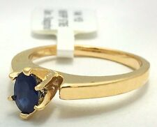 GENUINE 0.43 Carats BLUE SAPPHIRE Ring 14k Gold *FREE SHIPPING & APPRAISAL