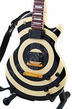Miniature Guitar Zakk Wylde Cream Black BULLSEYE & Strap