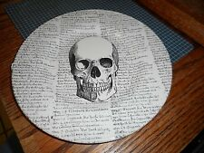 """New Royal Stafford Made In England Pottery Skull Halloween 8 1/2"""" Plate (s)"""