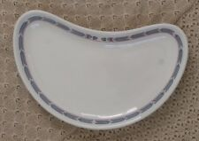 Vintage Mayer Restaurant Ware Crescent Moon Dish Blue and Maroon Pattern Border