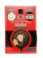 Nutella Chocolate Brownie Cast Iron Skillet Brownies Mix & Mallows Baking Kit