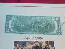 OFFICIAL SIGNING OF THE DECLARATION OF INDEPENDENCE $2 DOLLAR BILL, ISSUE 1976