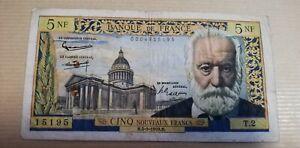 billet 5 francs Victor Hugo