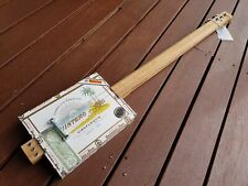CIGAR BOX GUITAR - 3- STRING- HAND CRAFTED BY SALTY DOG CBG-FREE SLIDE
