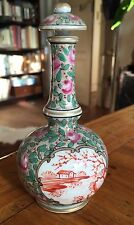 FAMILLE ROSE 19th PORCELAINE CHINE FLACON PARFUM COLOQUINTE ASIE BOTTLE