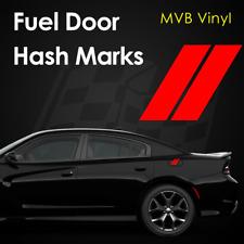 Fuel Door Hash Marks Vinyl Decal Body Graphics | Fits: Charger 2014+