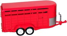 1/64 GREENLIGHT RED LIVESTOCK TRAILER