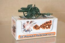 CRESCENT TOY 1249 WWI 18 POUNDER FIELD GUN CANNON 1914 - 1918 GLOSS BOXED nn