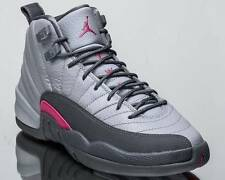 New Nike Air Jordan 12 Retro XII GS GG sz 9y Wolf Grey Pink 510815-029 DS CNY