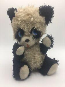 """Vintage Rare The Rushton Company Cute Face Panda Bear 12"""" Plush"""