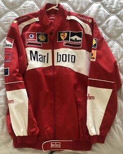 Vintage Michael Schumacher Formula One Ferrari Racing Jacket F1 Sport Size XL