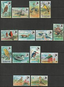 Lesotho 1981 Birds Defs Basic Complete UM
