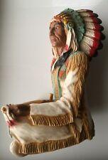 Indianer Häuptling mit Friedenspfeife, Made in USA, 1995