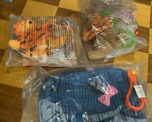 2000 LOT of 3 Pooh , Roo, Eeyore Pooh McDonalds Happy Meal Toys Toy Pouch Clips