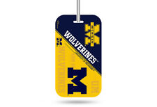 Michigan Wolverines Official NCAA Luggage Tag by Rico 317001
