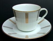 Década de 1970 Noritake Humoresque 6685 patrón 140 ml tazas de café & Platillos mirada en en muy buena condición