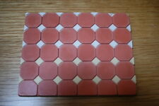 Terracotta Octagonal Floor Tiles - Dolls House