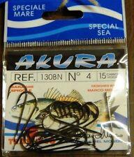 1 Confezione 15 AMI TRABUCCO AKURA serie 130BN n 4 pesca BB39