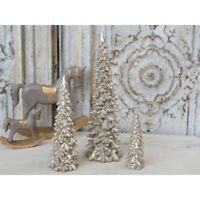 Chic Antique Weihnachtsbaum Tannenbaum Baum Gold Christmas 15cm  shabby Vintage