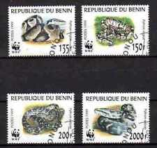 Animals Snakes Benin (40) complete set 4 stamps obliterated