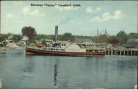 Stamford CT Steamer Boat Victor c1910 Postcard