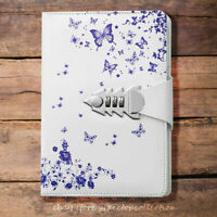Butterfly Leather Journal Diary with Password Combiantion Lock A5 Paper Notebook