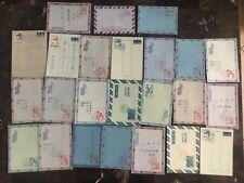 Stunning Lot Of 23 Taipei Taiwan China Airmail Aerogramme First Day Covers