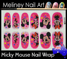Micky Mouse Full Cover Glitter Nail Art Wraps Stickers Pattern cartoon Disney