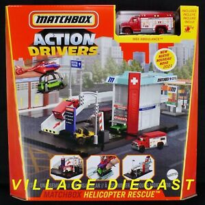 2021 Matchbox Action Drivers Helicopter Rescue w/ MBX Ambulance™ / MIB