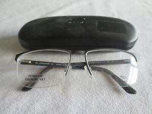 Jaguar black / gunmetal glasses frames. 33089. With case.