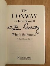 SIGNED by Tim Conway - What's So Funny? My Hilarious Life HC 1st/1st + Pic New