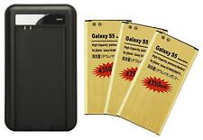 4350mAh High-Capacity Gold Battery / Charger for SamSung Galaxy S 5 i9600 G900A